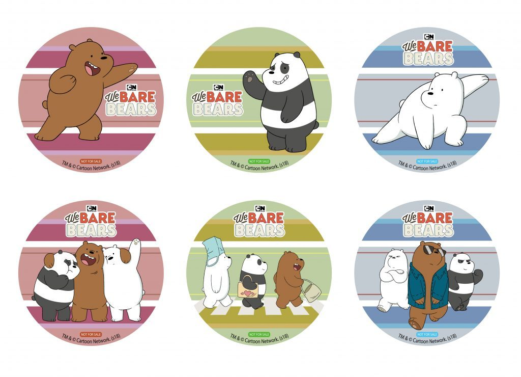 We Bare Bears Coasters at the Harajuku Collaboration Cafe