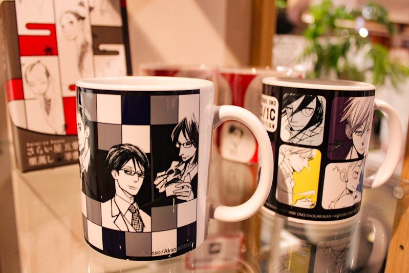 exclusive mugs from the Natsume Ono 1 Day 1 Character Exhibit