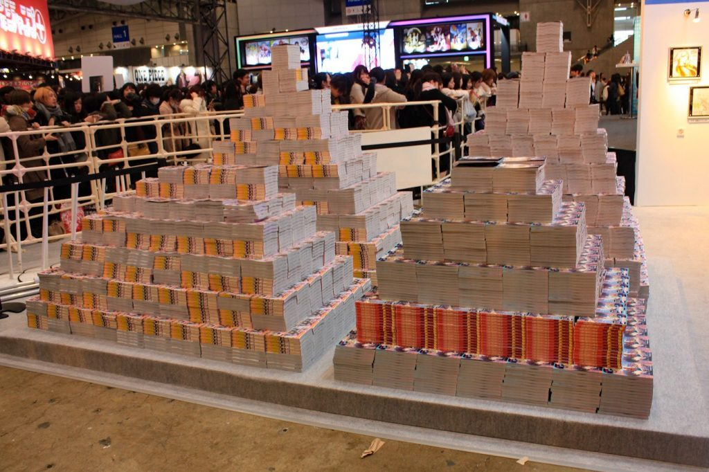 Pile of free manga at Jump Festa 2019