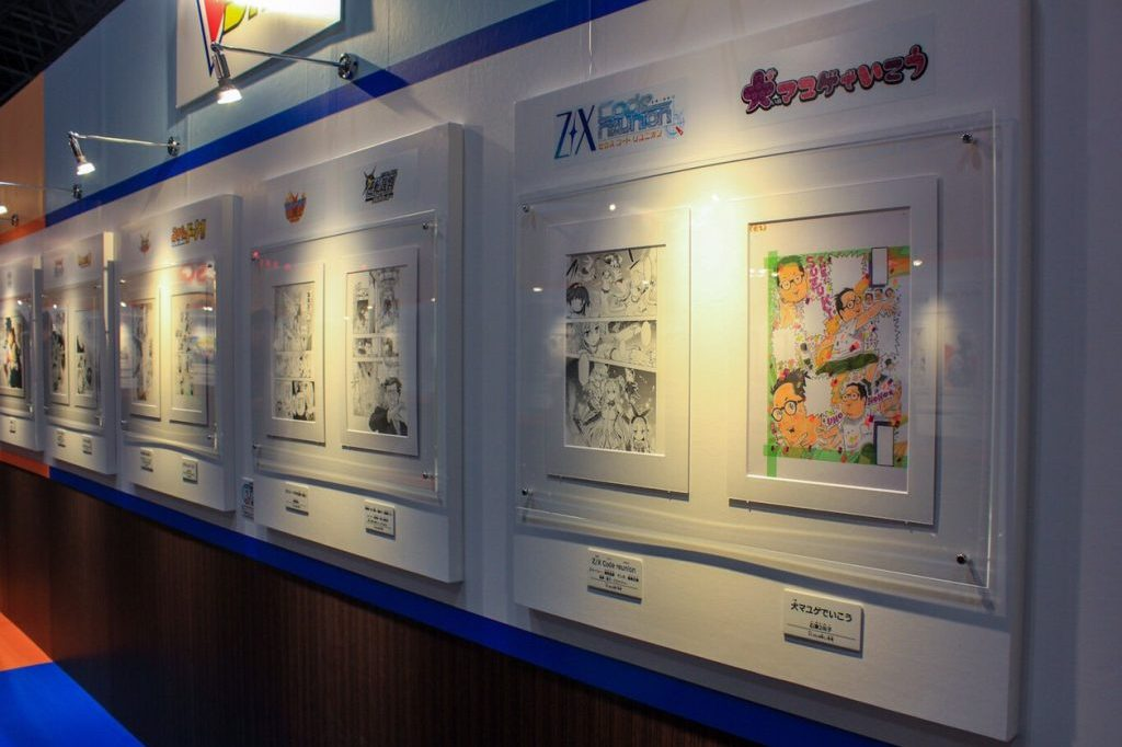 "Within the manga ladened walls of the ""Jump Genga World,"" guests could stand up close and personal with pages from Jump's hottest series at JUMP FESTA 2019"