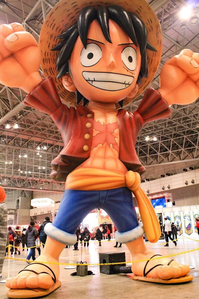 Oversized Luffy from ONE PIECE balloon at Jump Festa 2019
