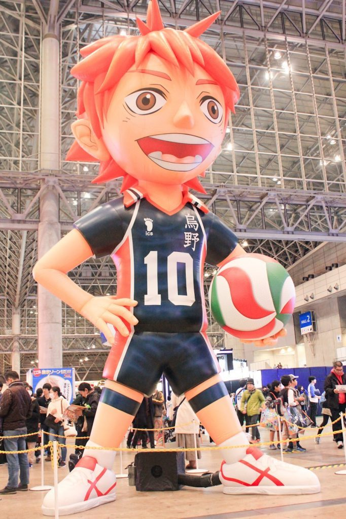 Oversized Hinata from Haikyu! balloon at Jump Festa 2019!