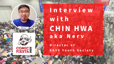 Photo of Interview with Chin Hwa, Director of Comic Fiesta